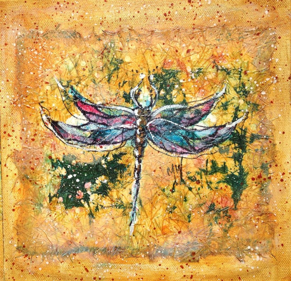 """Dragonfly"" original fine art by Margie Whittington"