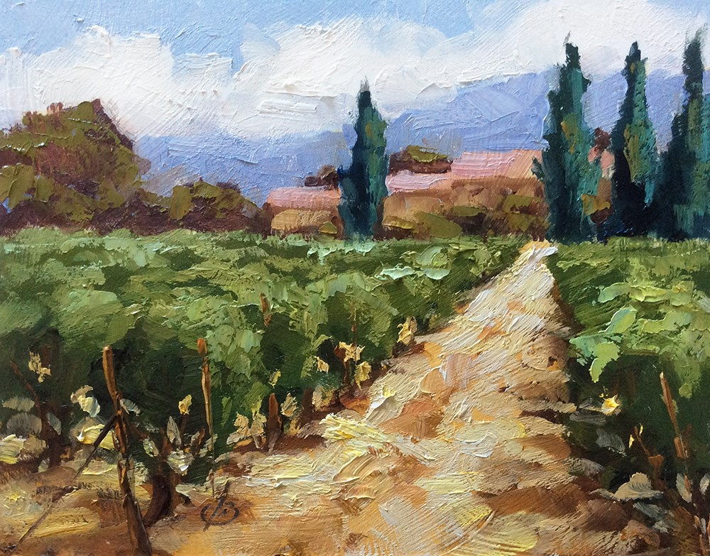 """VINEYARD"" original fine art by Tom Brown"