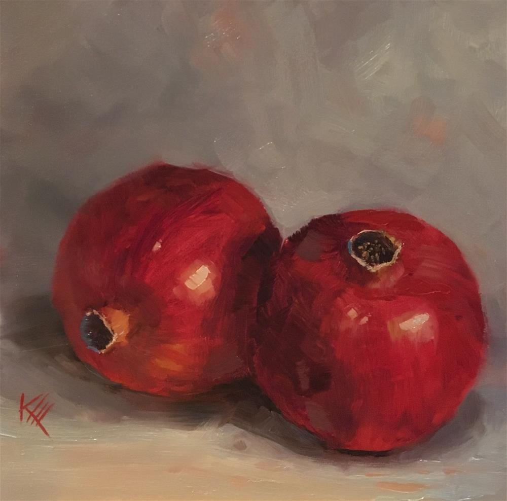 """Pomegranates "" original fine art by Krista Eaton"