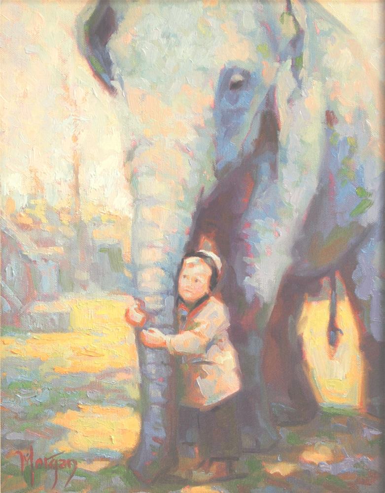 """""""Zoo Memories"""" original fine art by Cecile W. Morgan"""