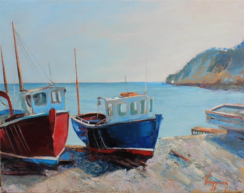 """Resting boats"" original fine art by Marco Vazquez"