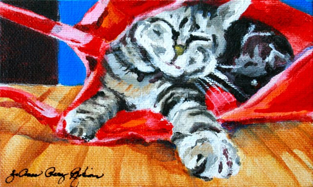 """This Ain't My Bag"" original fine art by JoAnne Perez Robinson"