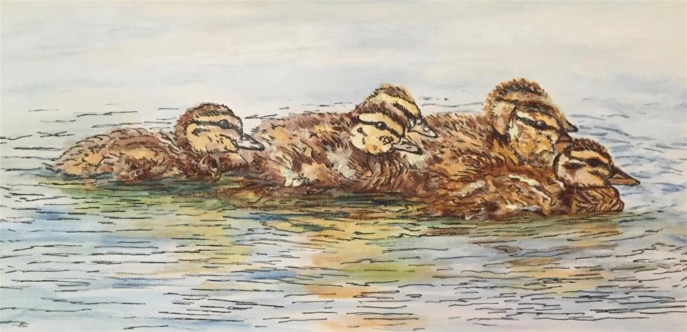 """Fuzzy Brood"" original fine art by Nan Johnson"
