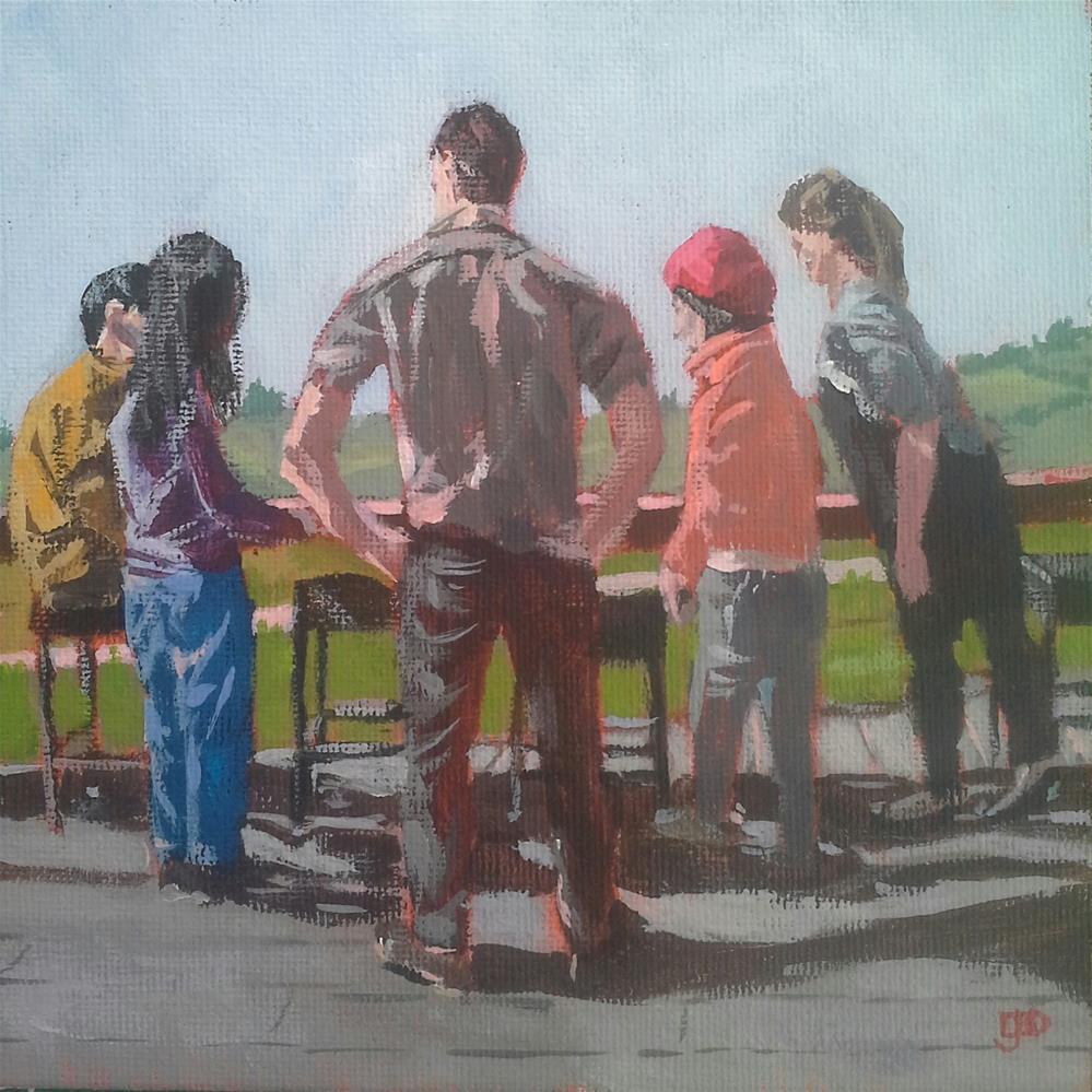 """Shadows At The Vineyard"" original fine art by Leanne Owen"