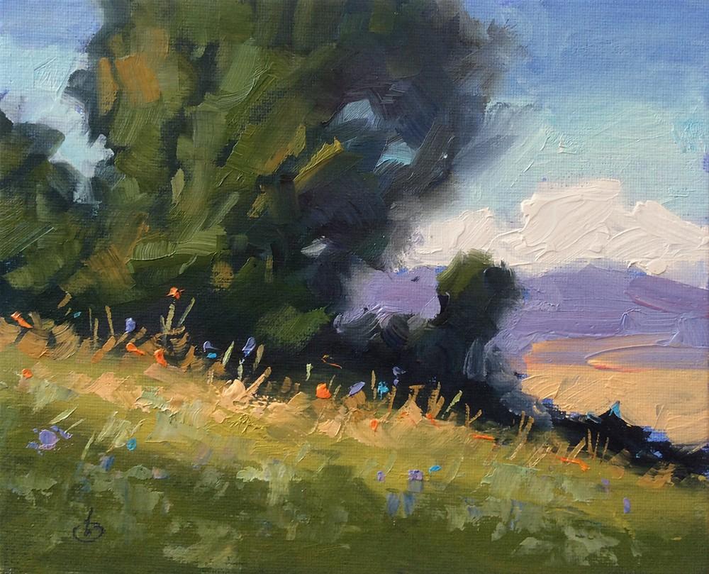 """COLORFUL WILDFLOWERS"" original fine art by Tom Brown"
