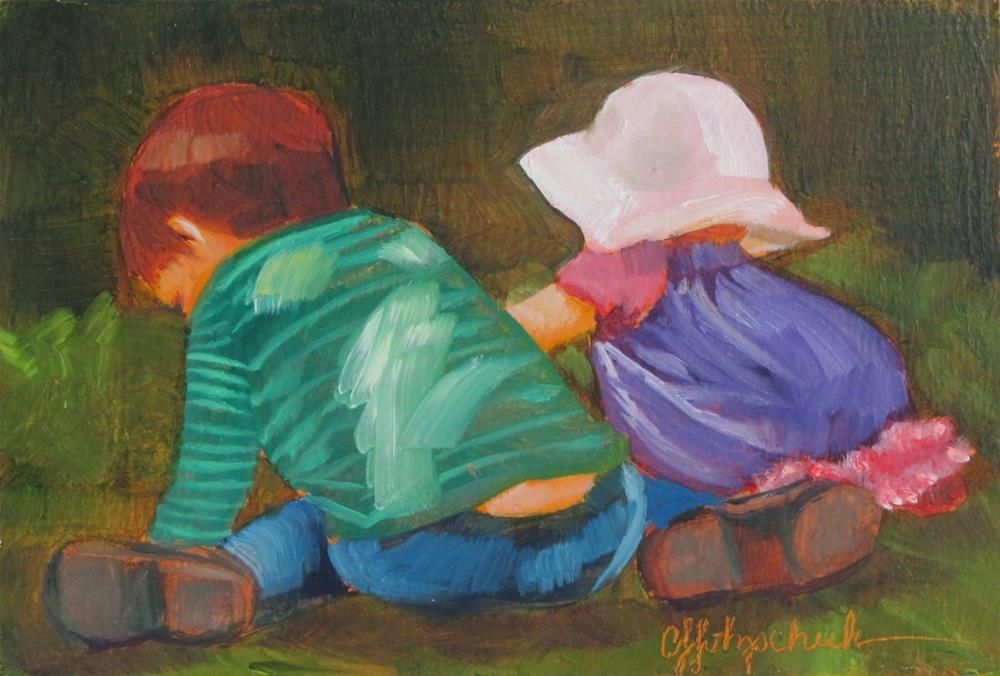 """Working Together"" original fine art by Christine Holzschuh"