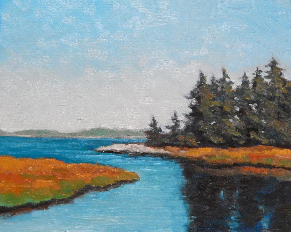 """Maine View"" original fine art by Lisa Kyle"