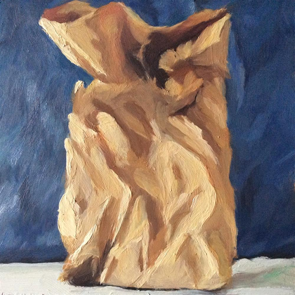 """Paper Sack Study"" original fine art by Paula Howson-Green"