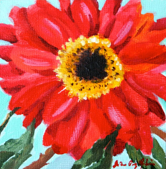 """Flower 4 U"" original fine art by JoAnne Perez Robinson"