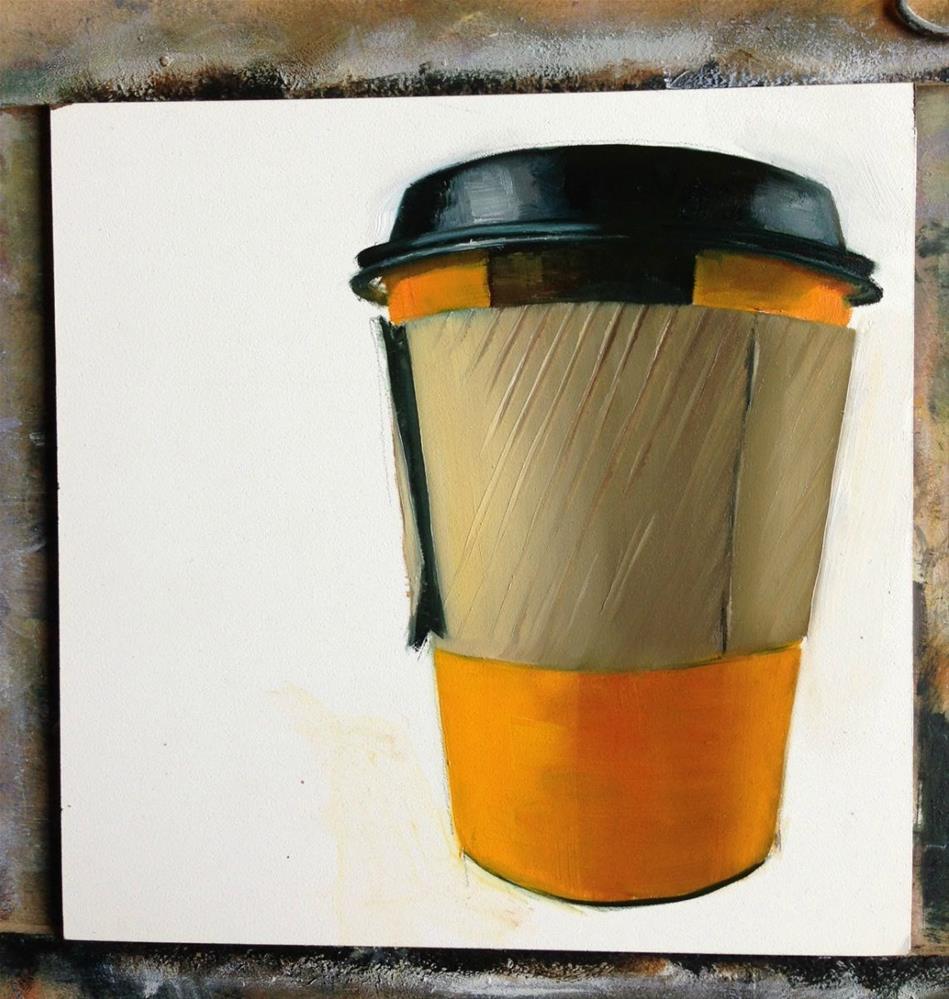 """""""(In progress) #4 About The Joe"""" original fine art by Beth Moreau"""