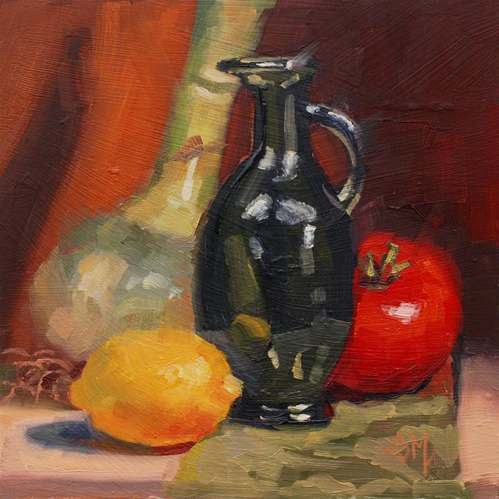 """No.754 Italian Tonight?"" original fine art by Susan McManamen"