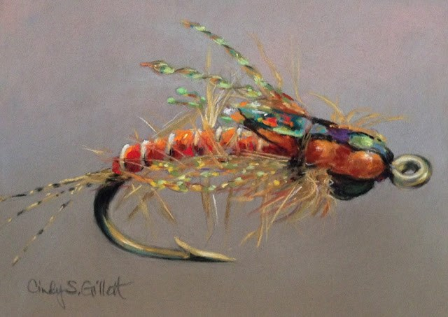 """Fly 13 - Deep Dish Callibaetis"" original fine art by Cindy Gillett"