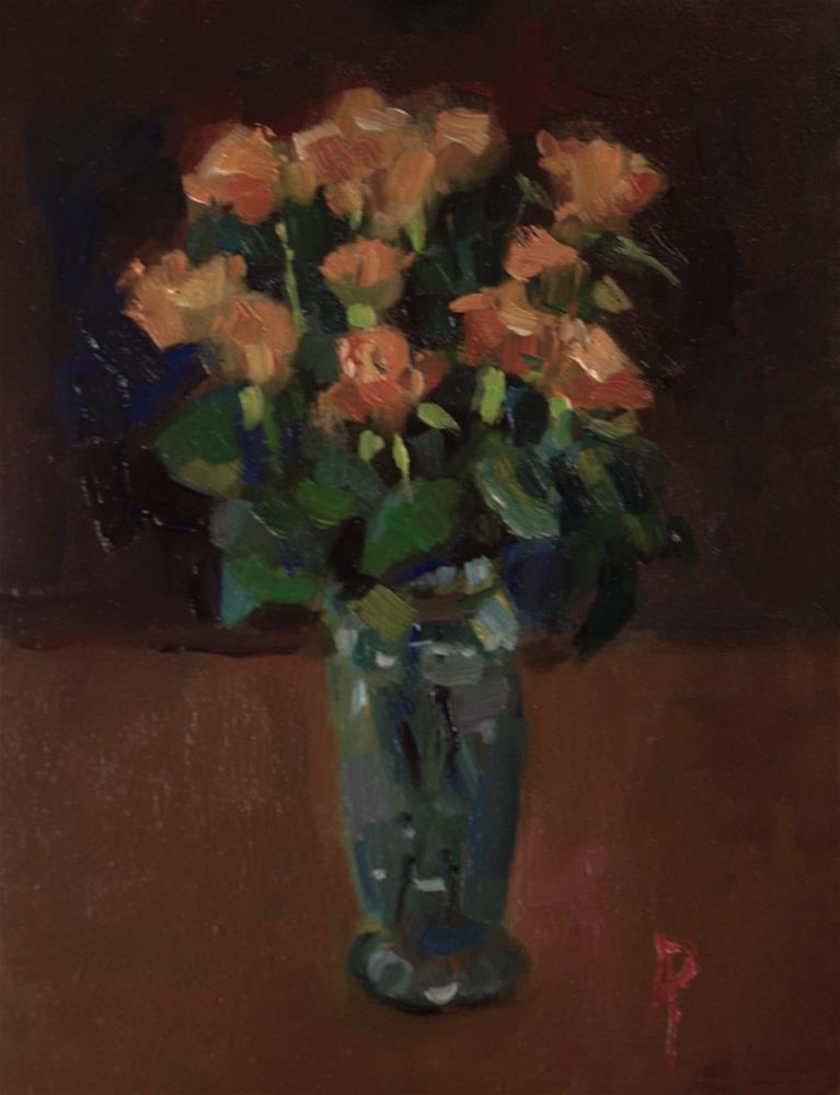 """Orange Roses"" original fine art by Andre Pallat"