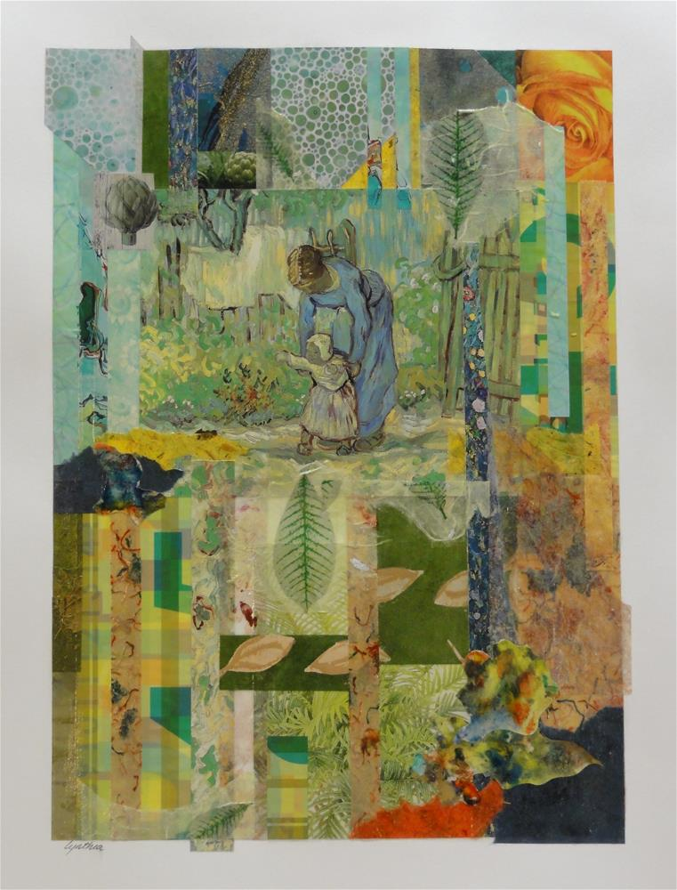 """First Steps in the Garden"" original fine art by Cynthia Frigon"