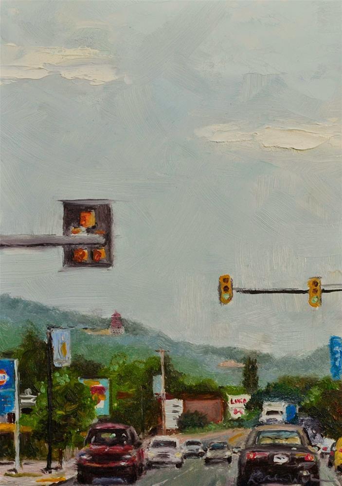 """""""5th and Penn"""" original fine art by Karen Weber"""