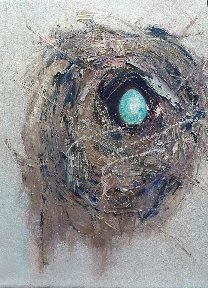 """Safehaven:only child"" original fine art by Rentia Coetzee"