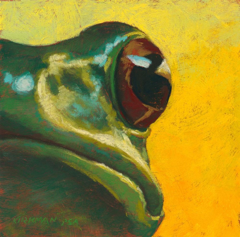 """Frog #16 (The Frog Prince)"" original fine art by Rita Kirkman"