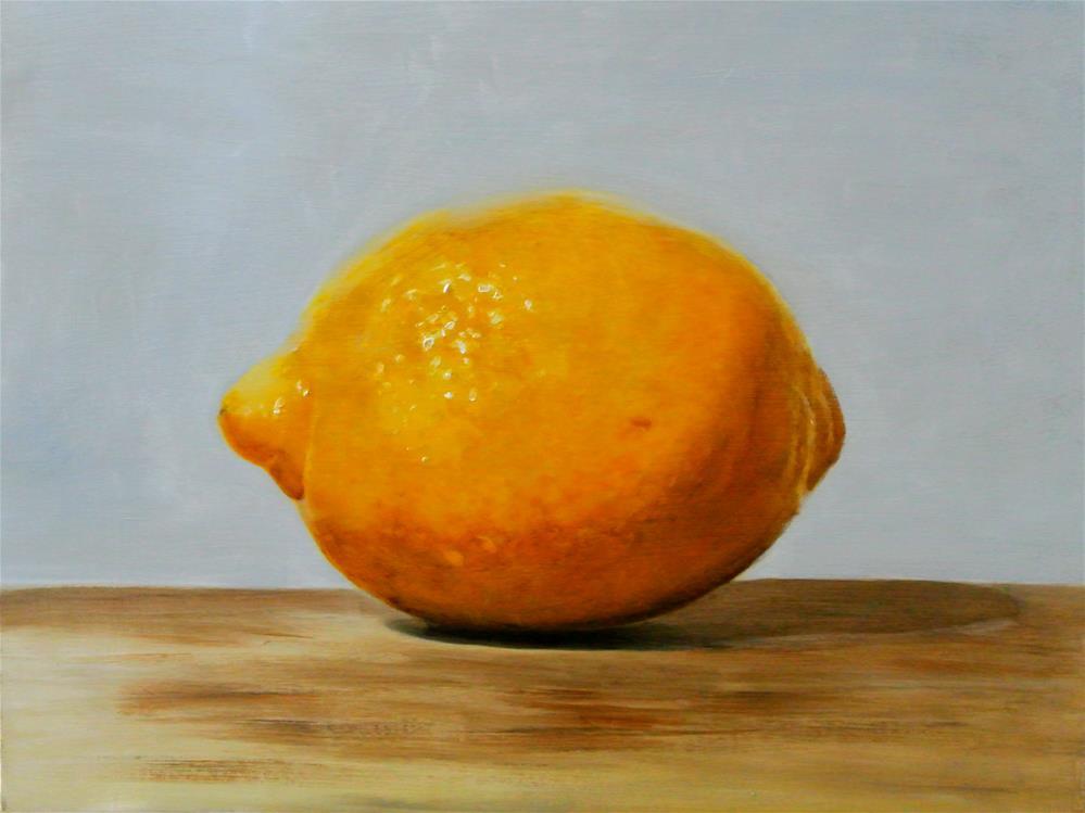 """Big Lemon"" original fine art by James Coates"