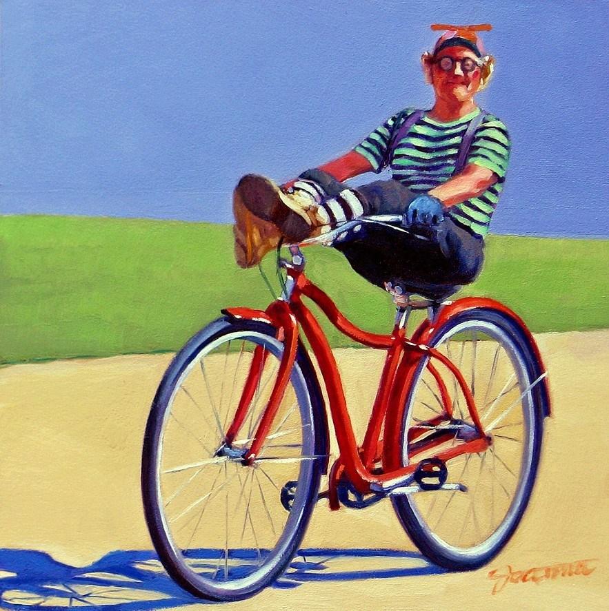 """Happy Clown-2"" original fine art by Joanna Bingham"