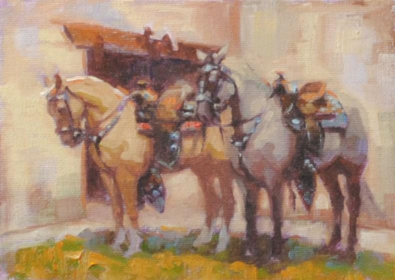 """California Horse Memories"" original fine art by Cecile W. Morgan"