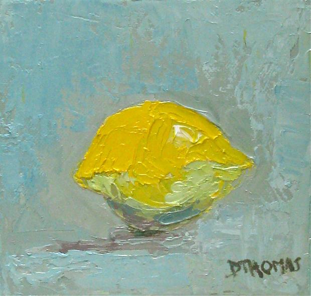 """Lemon Study"" original fine art by Donna Thomas"