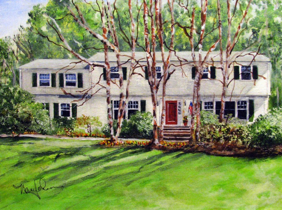 """Blauvelt Drive"" original fine art by Nan Johnson"