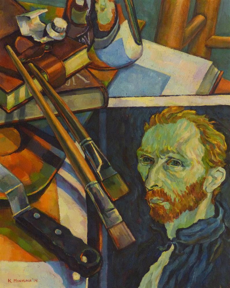 """Master Class with Van Gogh (2014)"" original fine art by Katya Minkina"