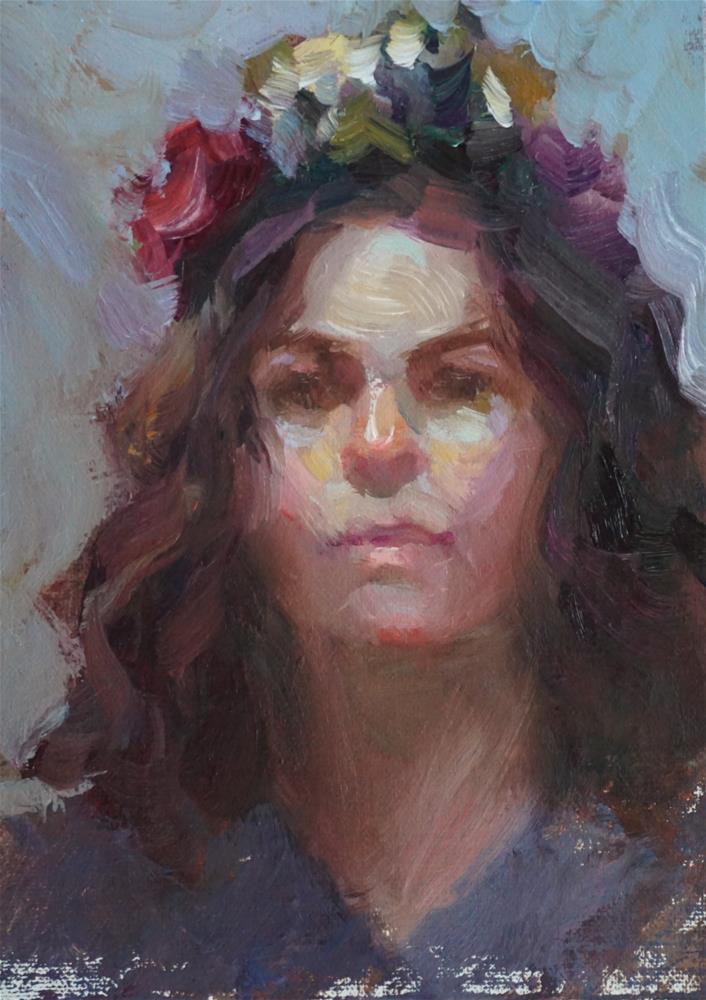 """The Garland"" original fine art by Carol Myer"