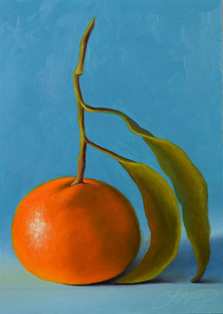 """21. Satsuma Mandarin II"" original fine art by Gema Lopez"