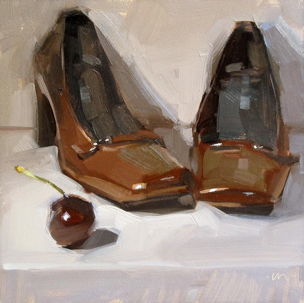 """Scary Cherry"" original fine art by Carol Marine"