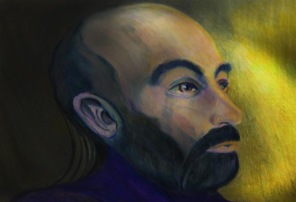 """Light in a Darkened Room"" original fine art by Terri Brown-Davidson"
