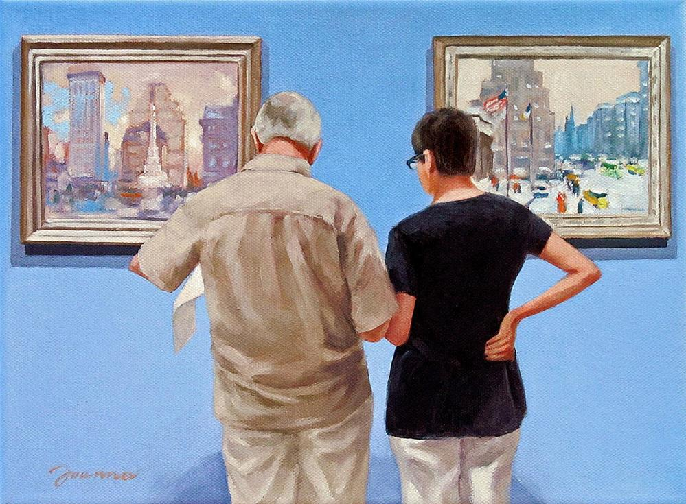 """Sightseeing--Painting People in Museum/Gallery Series"" original fine art by Joanna Bingham"