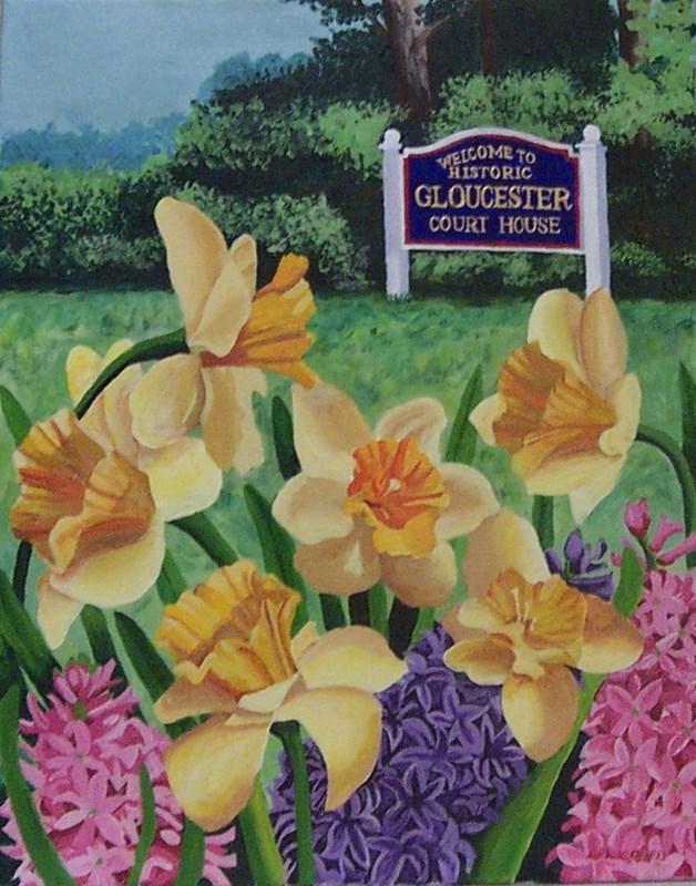 """Gloucester Sunday Morning"" original fine art by Lisa Wiertel"