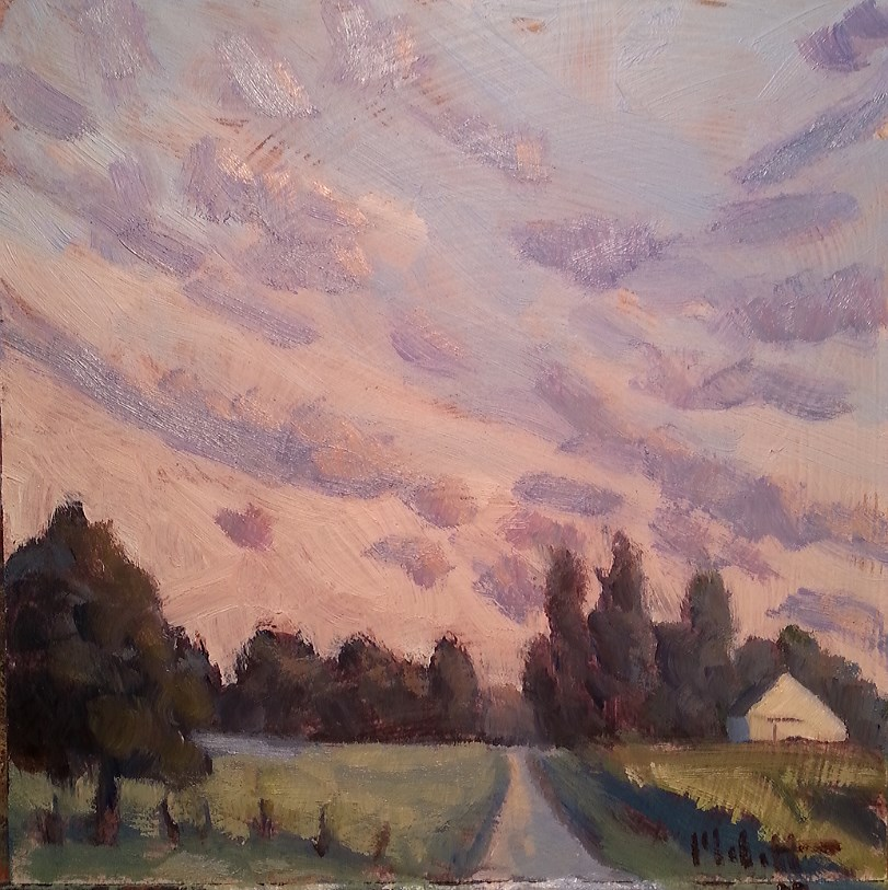 """September Way Rural Landscape Painting"" original fine art by Heidi Malott"
