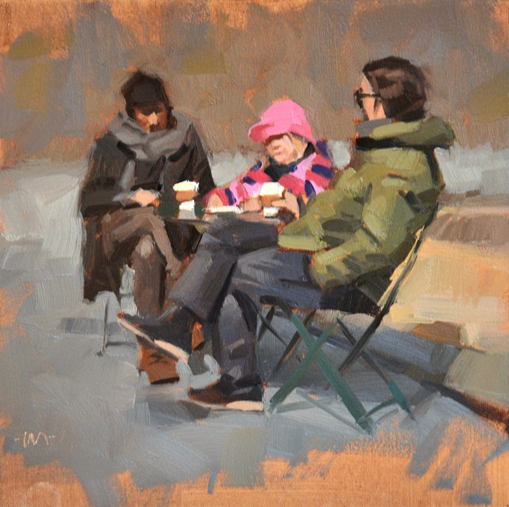 """Their Colorful Child"" original fine art by Carol Marine"