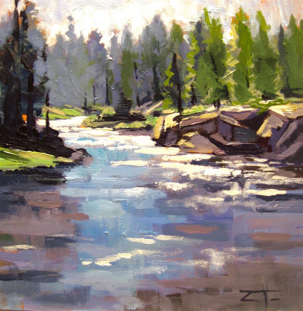 """""""Deschutes River Bend"""" original fine art by Zack Thurmond"""