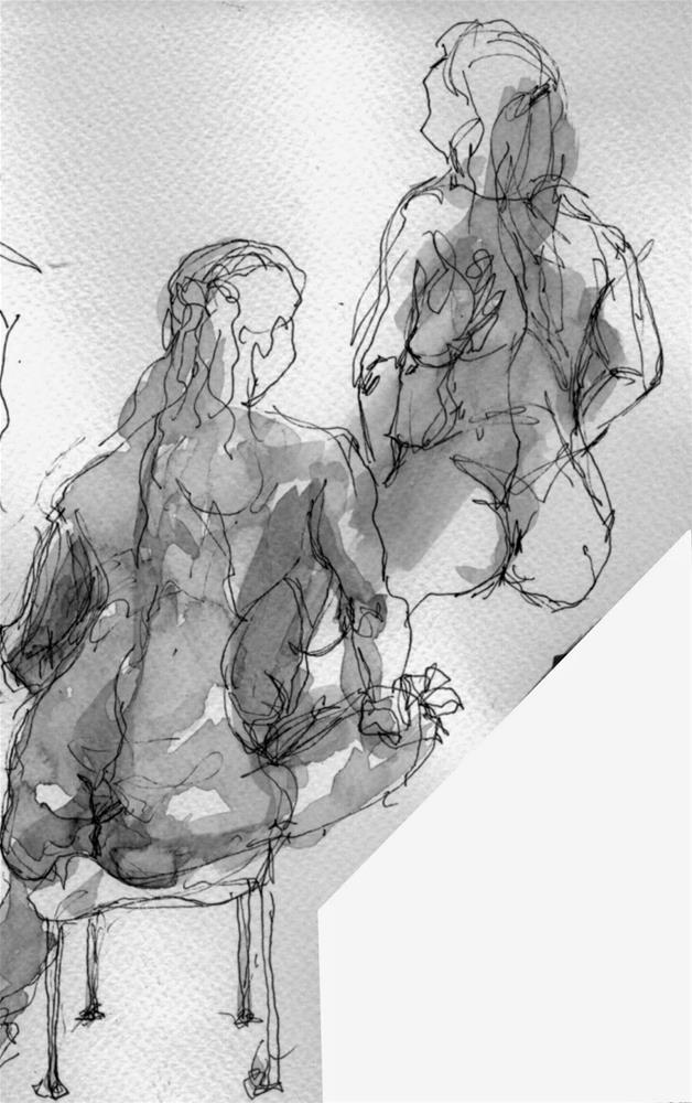 """doodles"" original fine art by Mitsuru Cope"