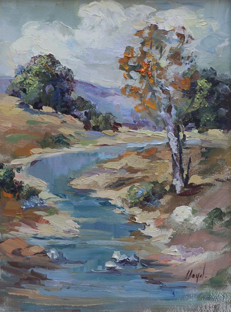 """""""The Stream"""" original fine art by Diane Lloyd"""