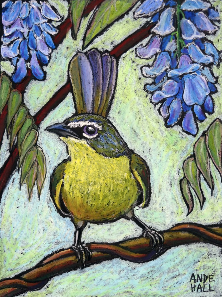 """""""Yellow Breasted Chat"""" original fine art by Ande Hall"""
