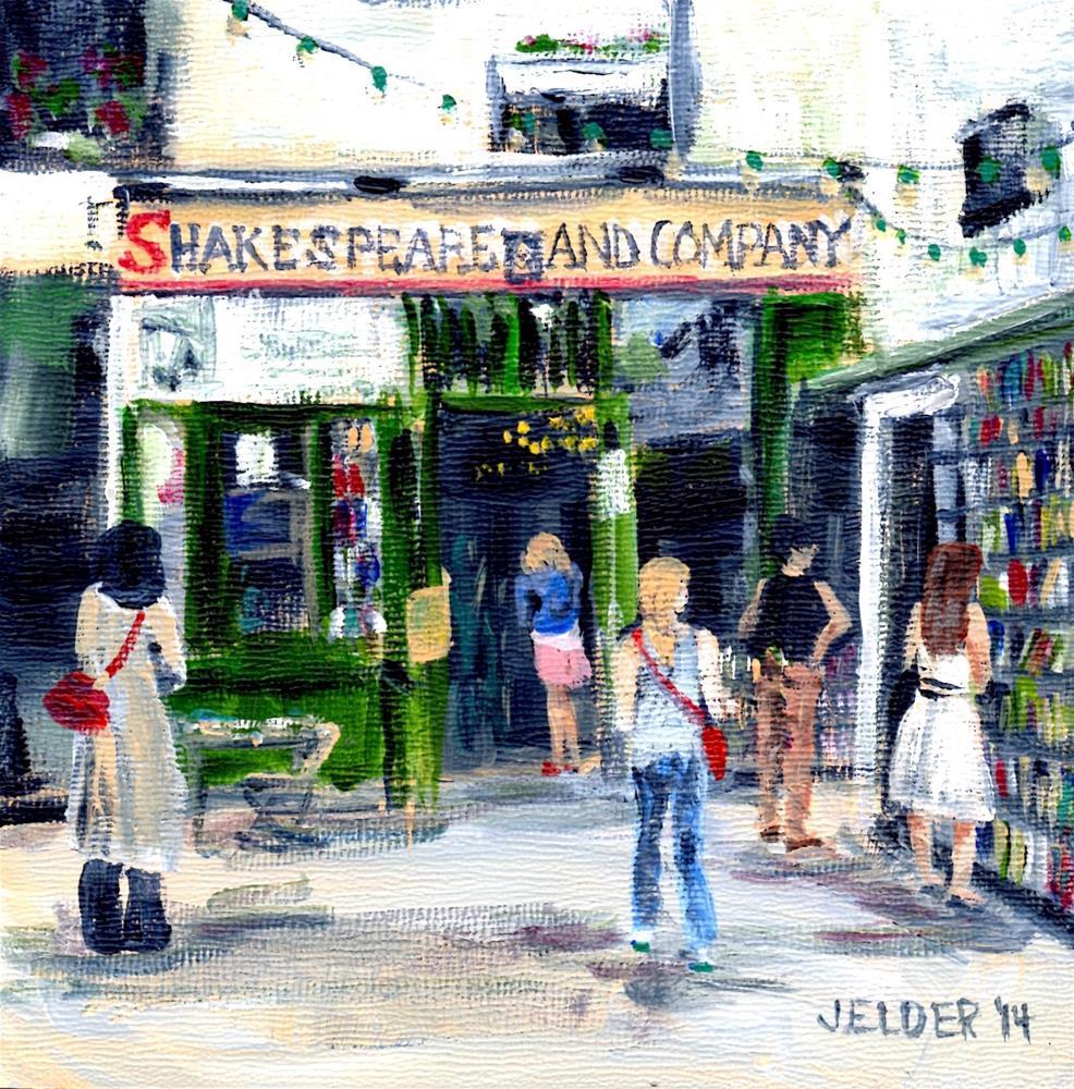 """Shakespeare and Co., Paris No. 56"" original fine art by Judith Elder"