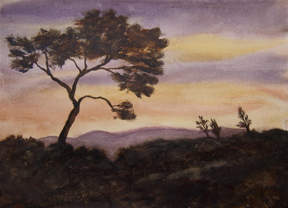 """Rural Sunset"" original fine art by Jean Lurssen"