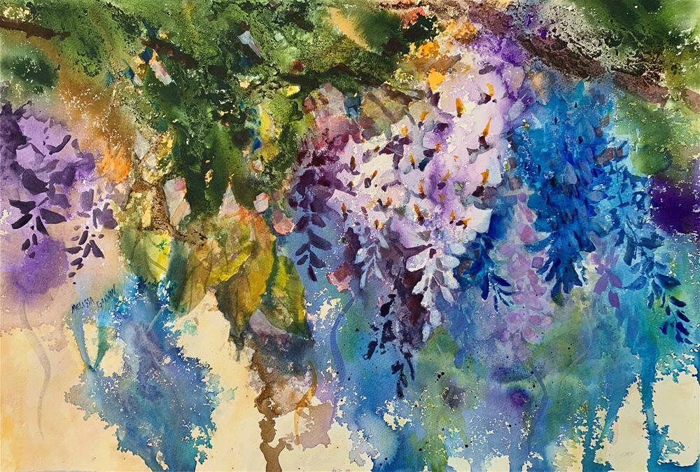 """Wisteria Love"" original fine art by Melissa Gannon"