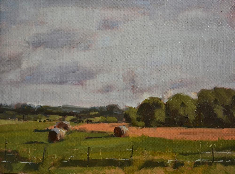 """""""Hay There"""" original fine art by Julie Davis"""