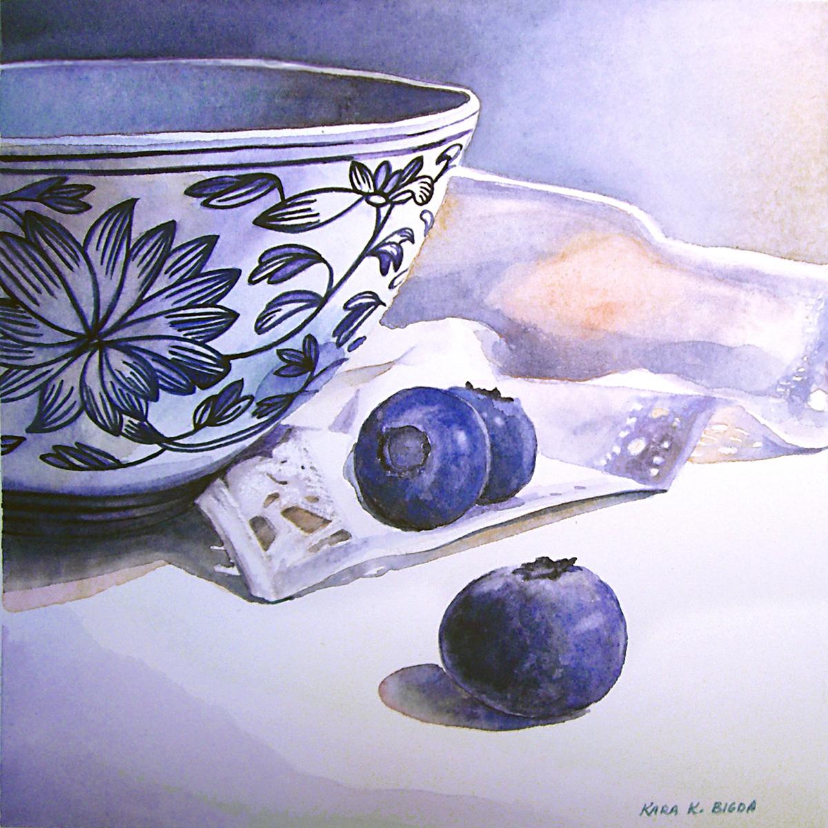"""Something Blue"" original fine art by Kara K. Bigda"