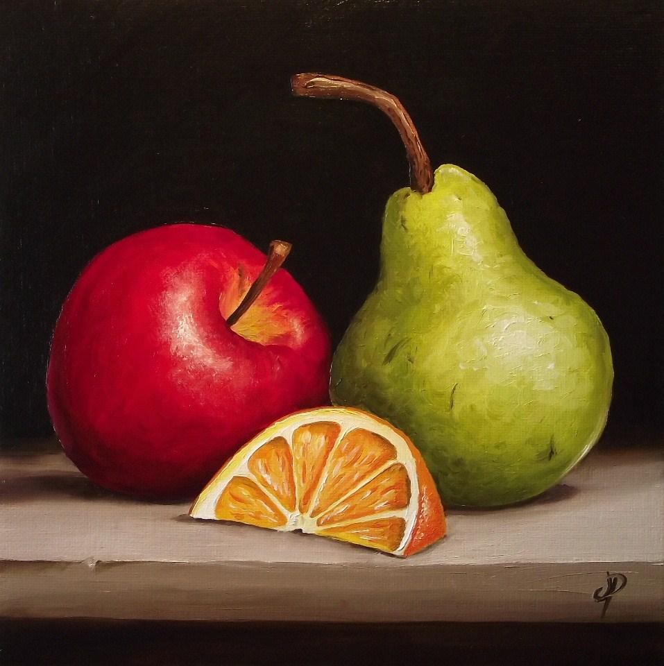 """""""Fruity Trio"""" original fine art by Jane Palmer"""