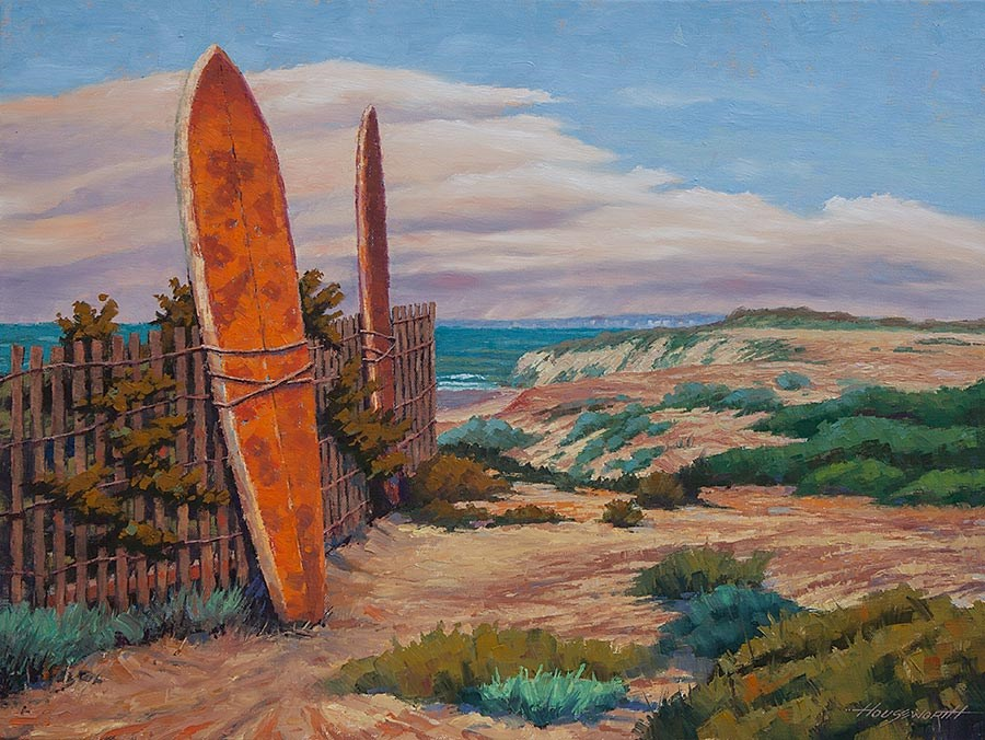 """""""Surf Boards"""" original fine art by Terry Houseworth"""