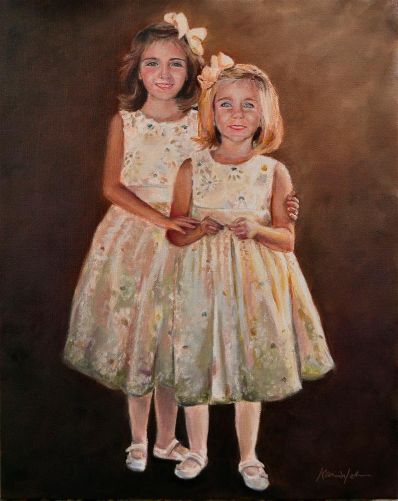 """Lily and Charlotte"" original fine art by Karen Weber"