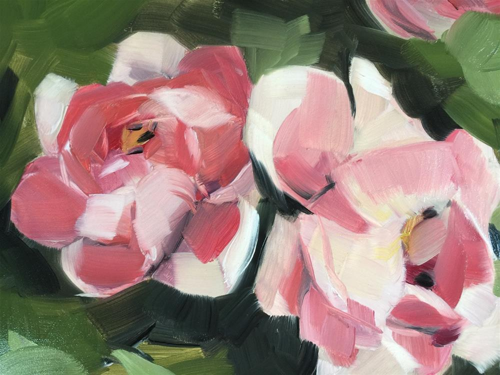 """306 Peonies Everywhere"" original fine art by Jenny Doh"