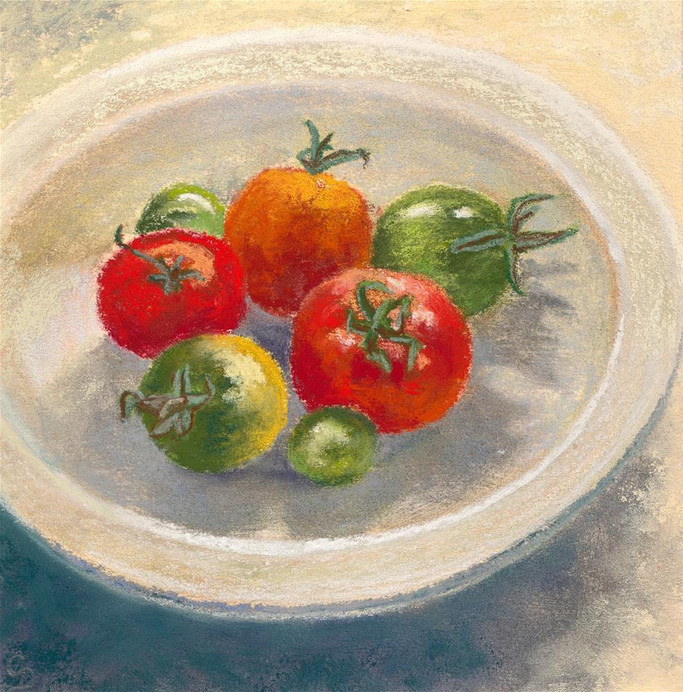 """Tomatoes"" original fine art by Christine Derrick"