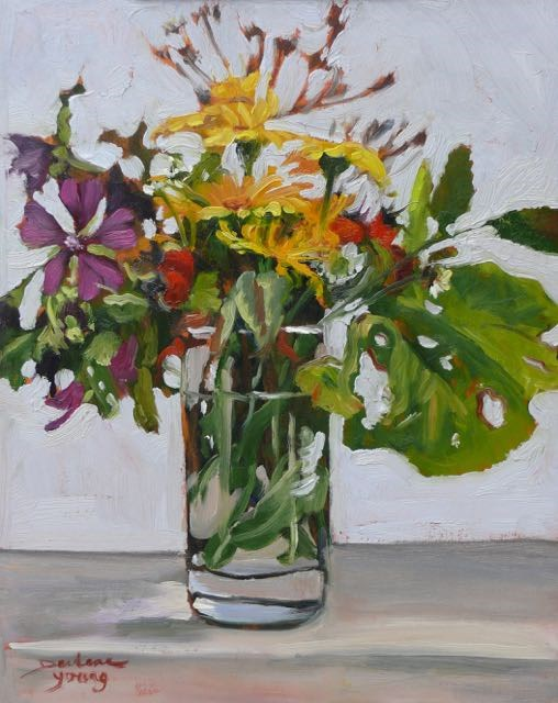 """955 Autumn Beauties, 11x14, oil on board"" original fine art by Darlene Young"